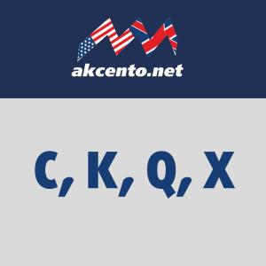 Буква C, K, Q, X